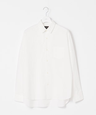 Typewriter Dropped Shoulders Shirt - WHITE