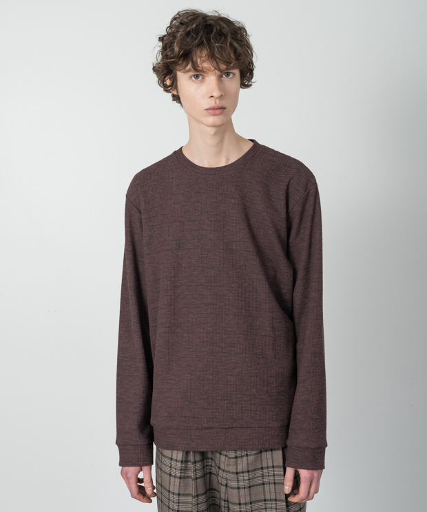 Double Cloth Pullover - BROWN