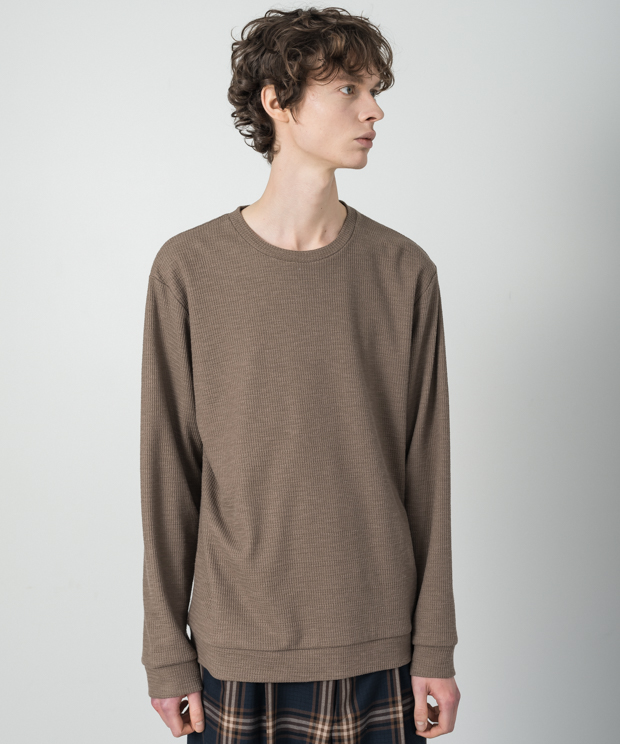 Double Cloth Pullover - MOCHA