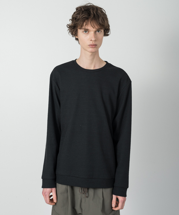 Double Cloth Pullover - BLACK