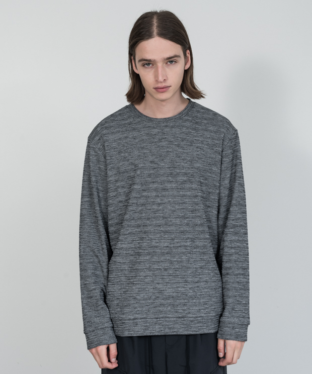 Double Cloth Pullover - GRAY