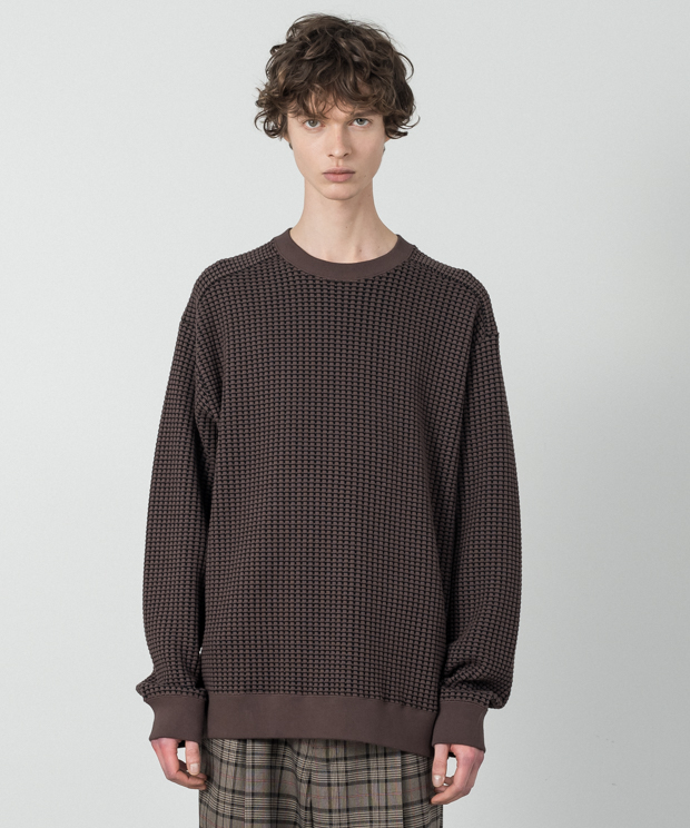 Big Waffle Pullover - BROWN