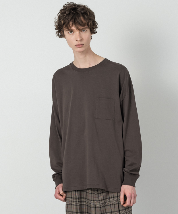 Dropped Shoulders T-Shirt - BROWN