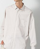 Typewriter Dropped Shoulders Stitch Work Shirt - IVORY