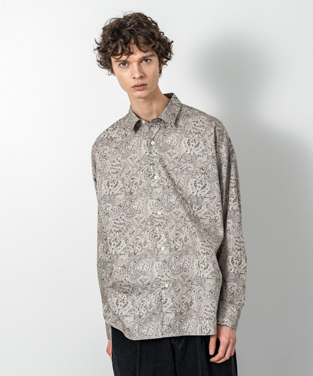 Broad Paisley Dropped Shoulders Shirt - IVORY