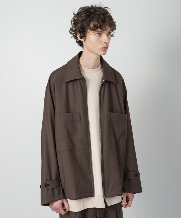T/R Stretch Swing Top Jacket - BROWN