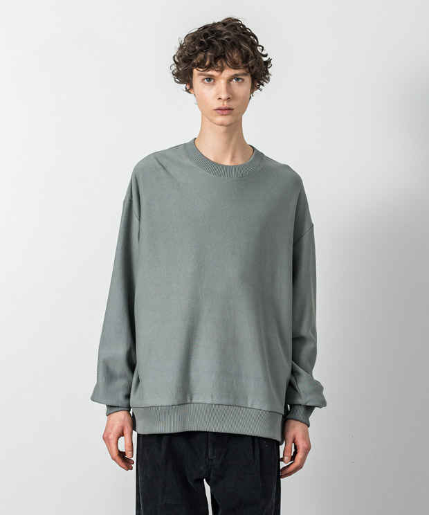 Fleece Oversized Sweatshirt - GREEN