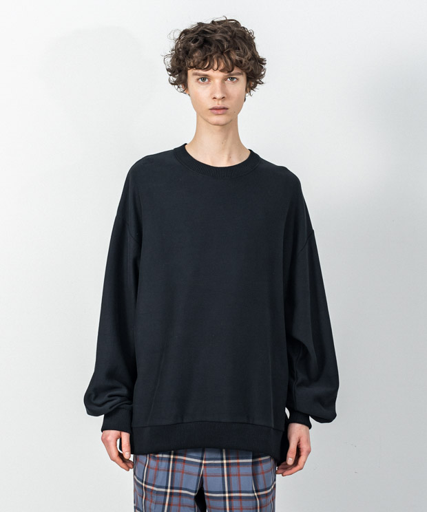 Fleece Oversized Sweatshirt - BLACK