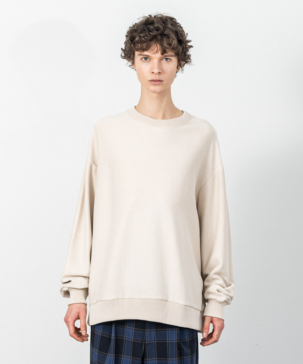 Fleece Oversized Sweatshirt - NATURAL