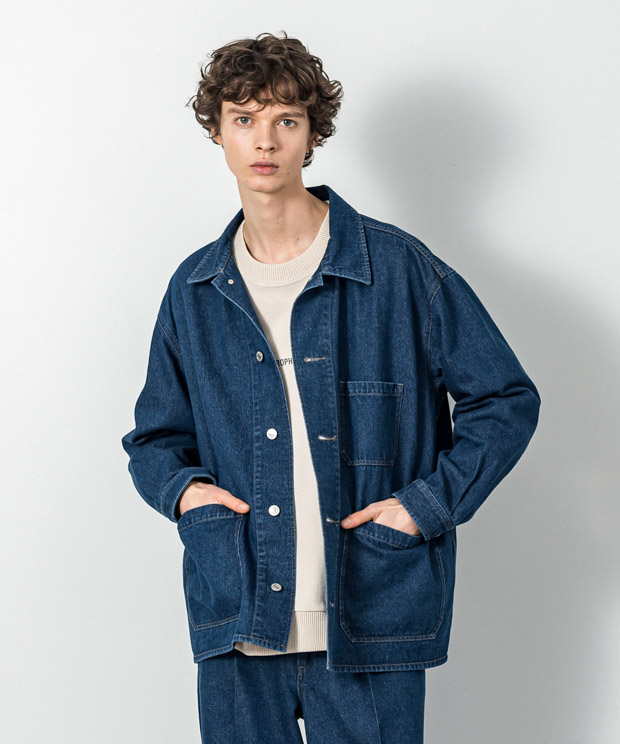 12.5Oz Denim Oversized Coverall - INDIGO