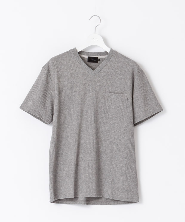 Glencheck Links V-Neck T-Shirt - GRAY