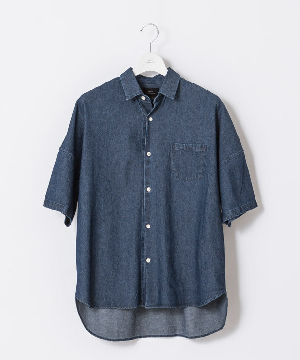 5.5Oz Denim Oversized Shirt - DARK INDIGO