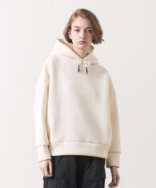Cardboard Knit Pull Over Hoodie - NATURAL