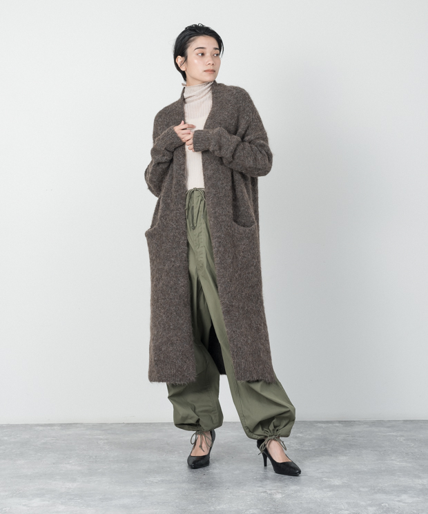 Knit Gown - BROWN