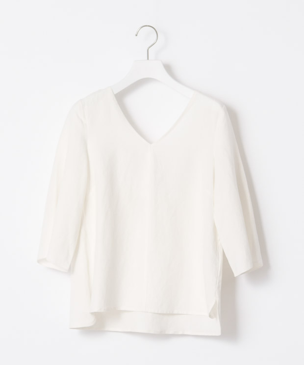Back Ribbon Blouse - WHITE