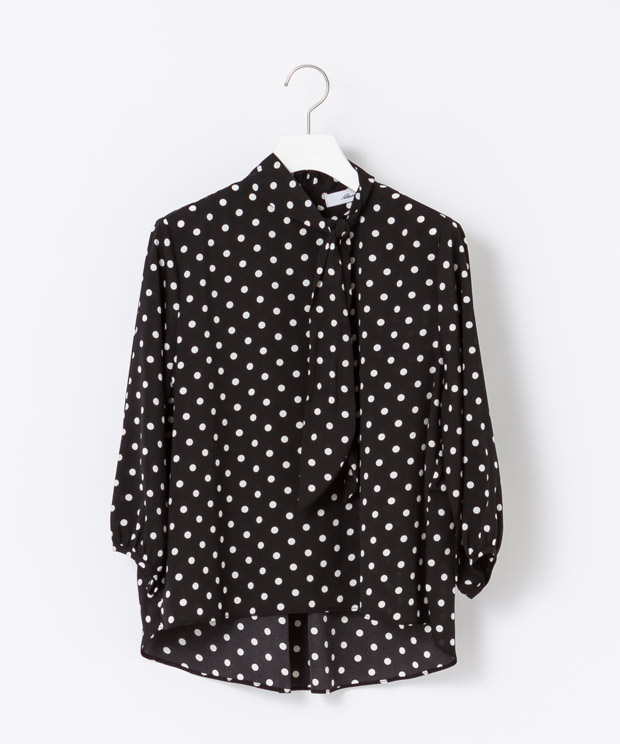 Bow-tie Blouse - BIG/BLACK