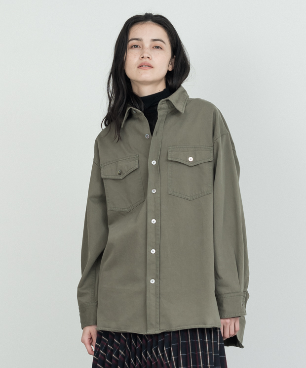 Big Shirt Jacket - KHAKI