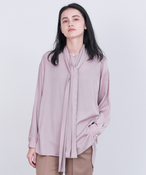 Removal Bowtie Blouse - PINK