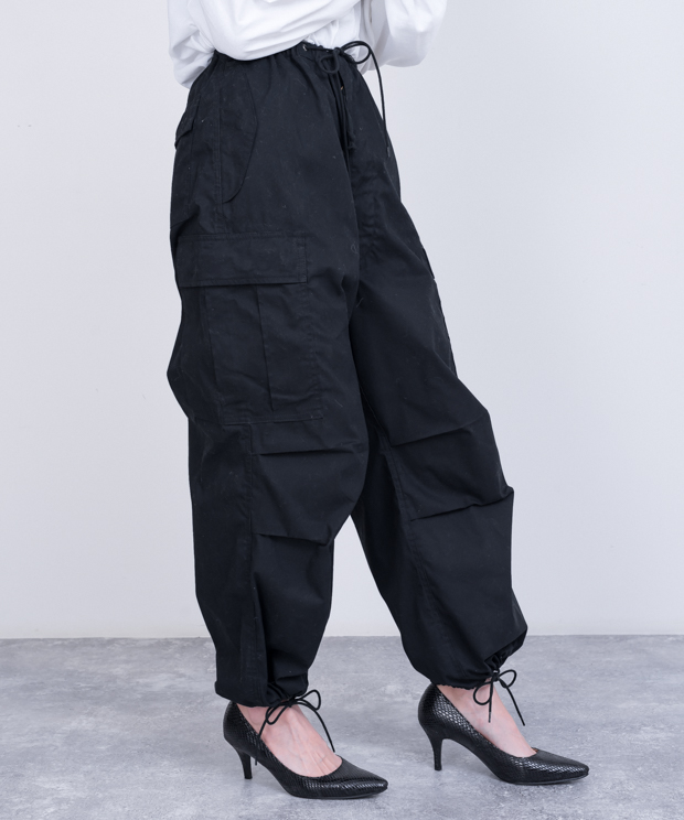 Volume Cargo Pants - BLACK