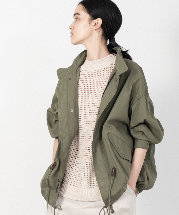 Big Silhouette M65 Fish Tail Short Jacket - KHAKI