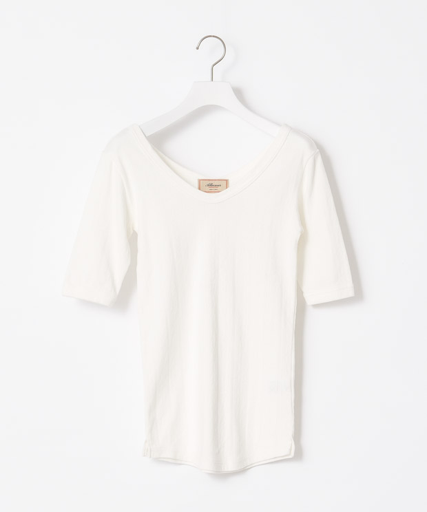 Jacquard Half Sleeves T-Shirt - WHITE