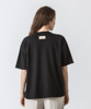 Crew Neck Printed Vintage T-Shirt(THE) - BLACK