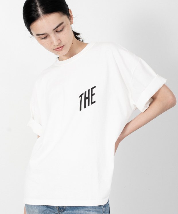 Crew Neck Printed Vintage T-Shirt(THE) - WHITE