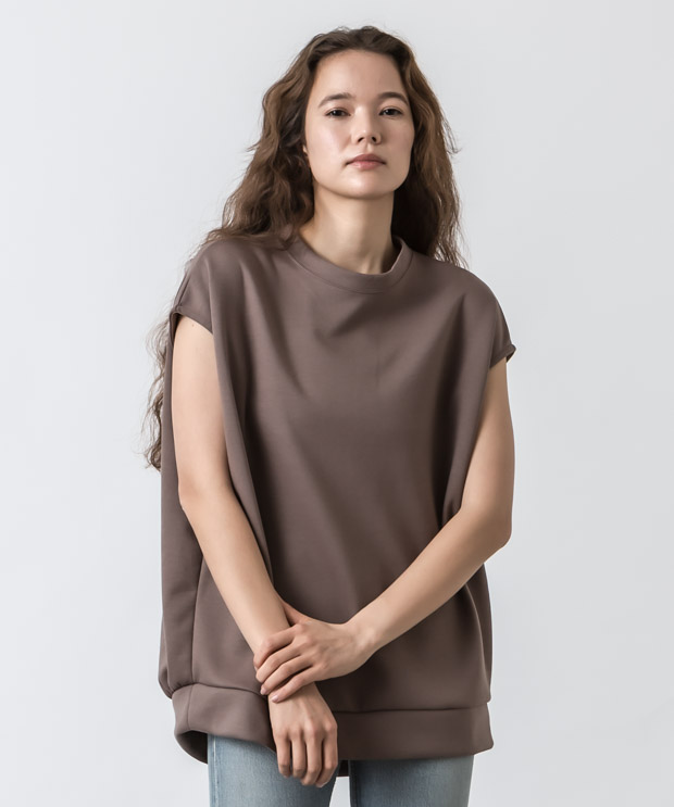 Cardboard Knit Sleeveless Top - MOCHA