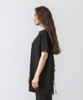 Back Open Design T-Shirt - BLACK