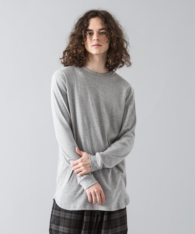 Smooth Long Pullover - GRAY
