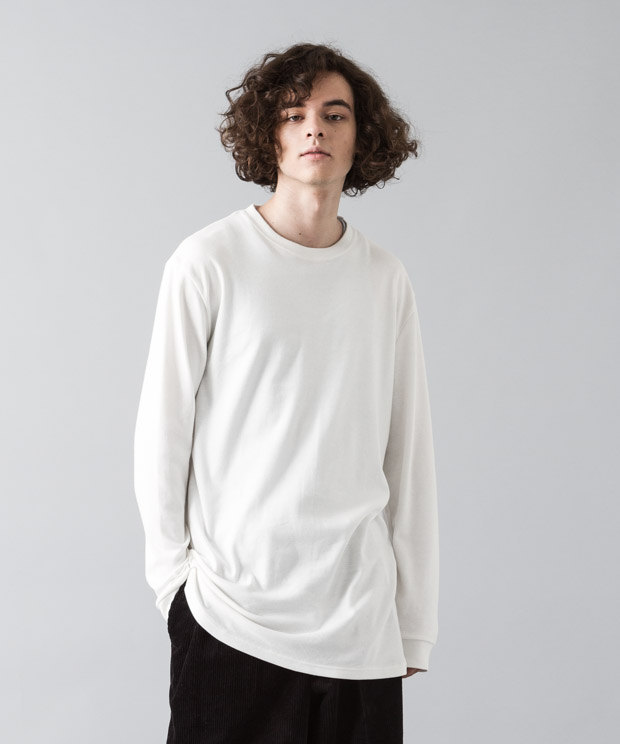 Smooth Long Pullover - WHITE