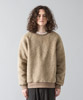 Tuscany Boa Wide Pullover - BEIGE