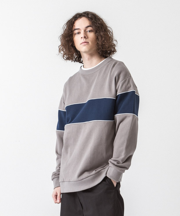 Blocking Sweatshirt - MOCHA