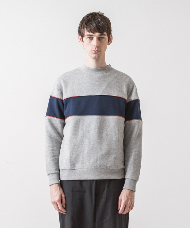 Blocking Sweatshirt - GRAY