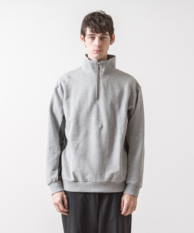 Half Zip Sweatshirt - GRAY