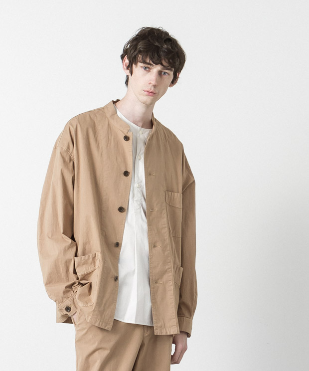 Typewriter Stretch Coverall - CAMEL
