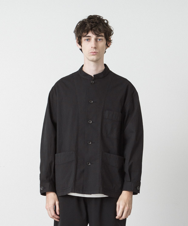 Typewriter Stretch Coverall - BLACK