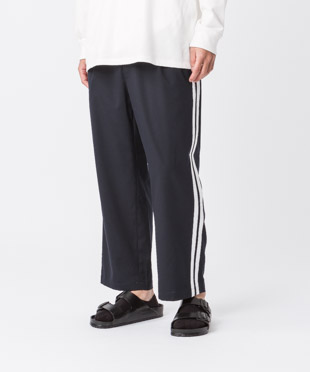 Tr Stretch Side Line Wide Pants - NAVY