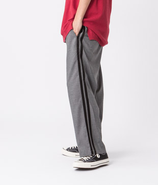 Tr Stretch Side Line Wide Pants - GRAY