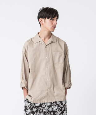 Satin Open Collar Shirt - MOCHA