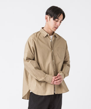 Typewriter Dropped Shoulders Shirt - BEIGE