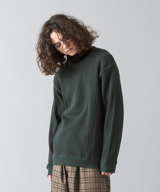 Big Waffle Pullover - GREEN