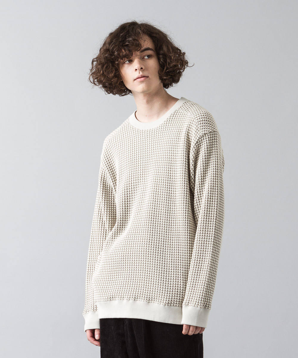 Big Waffle Pullover - IVORY