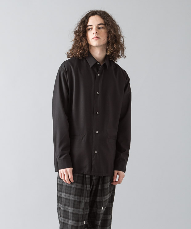 [予約商品]Tr Clear Twill Jacket - BLACK