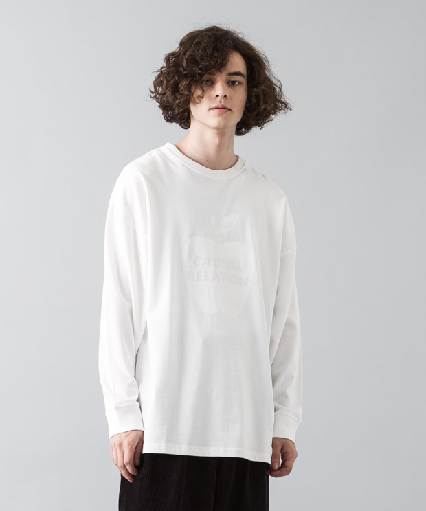 [予約商品]Dropped Shoulders T-Shirt (Apple) - WHITE