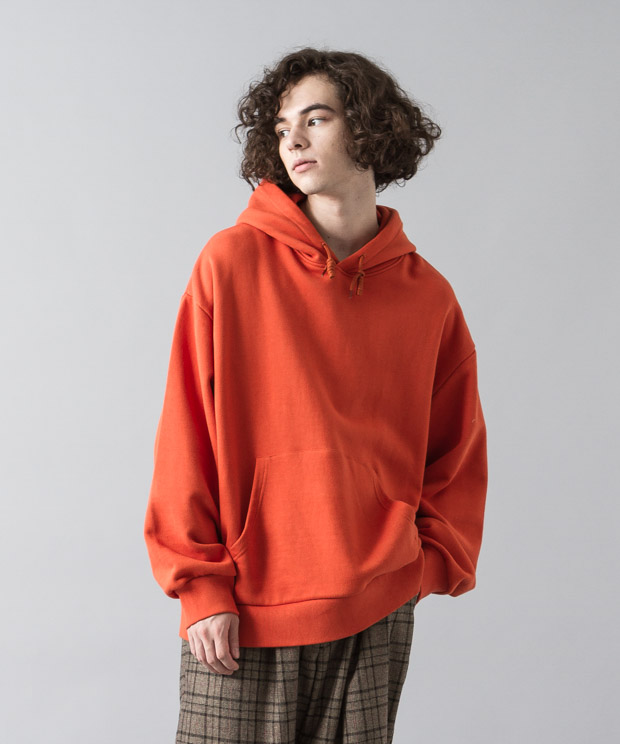 Oversized Sweat Hoodie - ORANGE