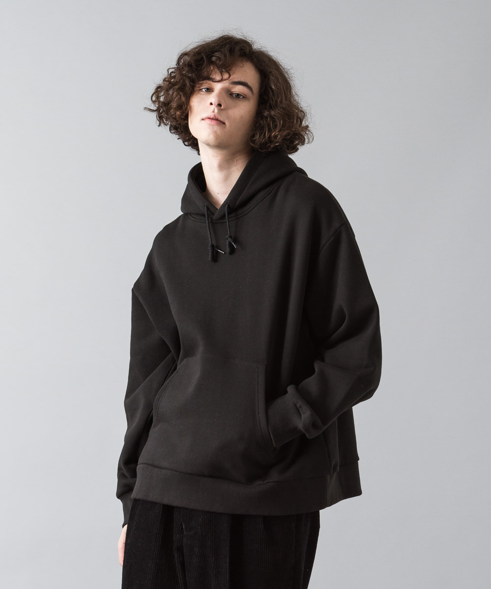 Oversized Sweat Hoodie - BLACK
