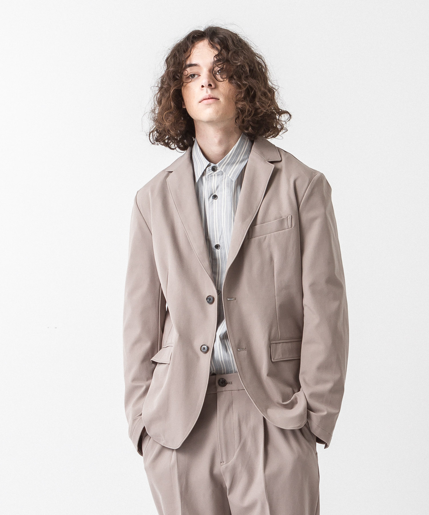 Primeflex Stretch Twill Tailored Jacket - BEIGE