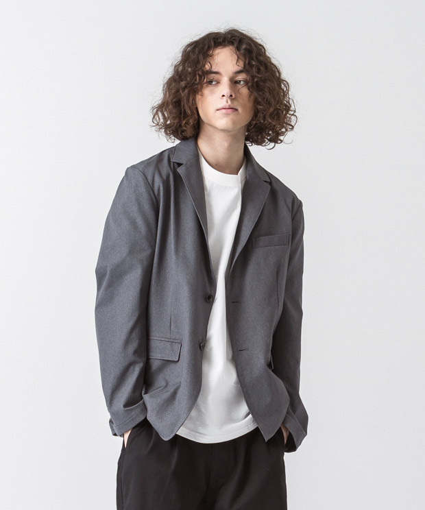 Primeflex Stretch Twill Tailored Jacket - GRAY