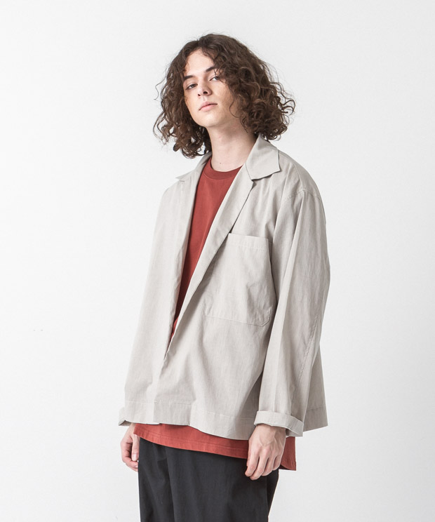Linen Coolmax Buttonless Shirt - BEIGE